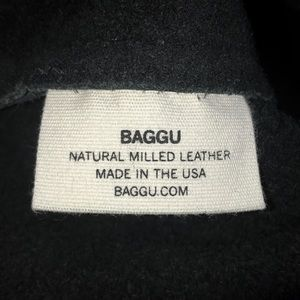 BAGGU Bags - Baggu Simple Black Leather Tote Bag NWOT